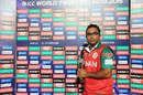 Amir Ali with his Man-of-the-Match award, Ireland v Oman, World T20 qualifier, Group A, Dharamsala, March 9, 2016