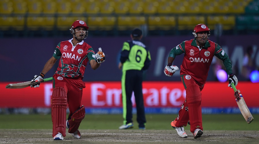 A dramatic last over followed: it included three full tosses, two no balls, a free hit, and 16 runs in all that saw Oman hand Ireland a shock defeat with two wickets in hand and two balls to spare