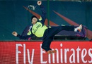 Gary Wilson leaps in the air to save a six, Ireland v Oman, World T20 qualifier, Group A, Dharamsala, March 9, 2016