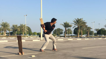 <b>Qaisar :</b> Street cricket in Saudi Arabia
