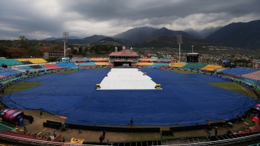 Rain delayed the start of the match