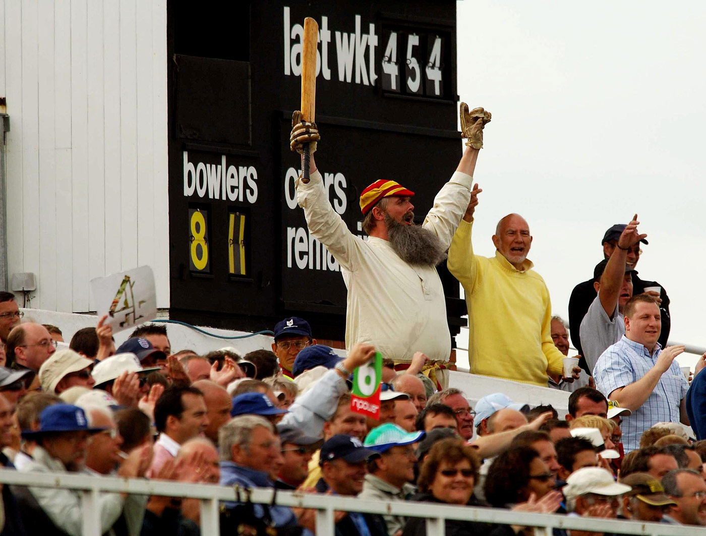 Ever the icon: a spectator kitted out as the good doctor at the Trent Bridge Test of 2005