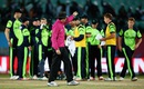 Nigel Llong asks the Ireland players to walk off the field, Bangladesh v Ireland, World T20 qualifier, Group A, Dharamsala, March 11, 2016