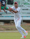 Rayad Emrit holds on to a catch to dismiss Shai Hope, Trinidad & Tobago v Barbados, Regional 4-day Tournament, 1st day, Trinidad, March 11, 2016