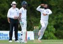 Legspinner Imran Khan in his delivery stride, Trinidad & Tobago v Barbados, Regional 4-day Tournament, 1st day, Trinidad, March 11, 2016