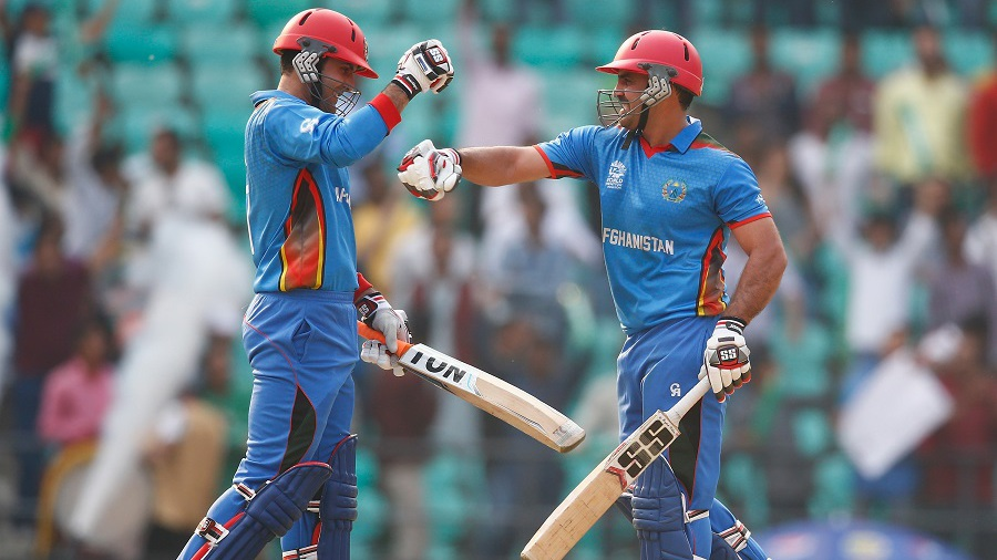 Mohammad Nabi and Samiullah Shenwari  put on the second-highest T20I stand for Afghanistan
