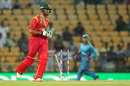 Sikandar Raza was bowled for 15, Afghanistan v Zimbabwe, World T20 qualifiers, Group B, Nagpur, March 12, 2016