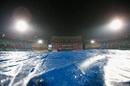 Rain interrupted play at the fag of Hong Kong's innings, Hong Kong v Scotland, World T20 qualifiers, Group B, Nagpur, March 12, 2016