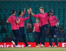 Gavin Main celebrates a wicket with his team-mates, Hong Kong v Scotland, World T20 qualifiers, Group B, Nagpur, March 12, 2016