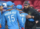 Inzamam-ul-Haq greets the Afghanistan players after the win, Afghanistan v Zimbabwe, World T20 qualifiers, Group B, Nagpur, March 12, 2016