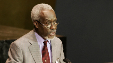 PJ Patterson, the prime minister of Jamaica, addresses the 2005 World Summit at the 60th session of the United Nations General Assembly in New York