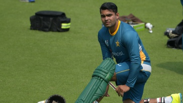 Umar Akmal pads up
