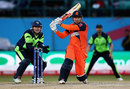 Stephan Myburgh pulls during his 27, Ireland v Netherlands, World T20 qualifiers, Group A, Dharamsala, March 13, 2016