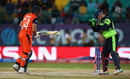 Niall O'Brien whips off the bails to have Wesley Barresi stumped, Ireland v Netherlands, World T20 qualifiers, Group A, Dharamsala, March 13, 2016