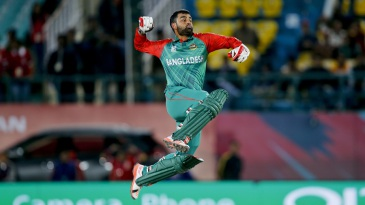 Tamim Iqbal is pumped up after reaching his maiden T20 international century