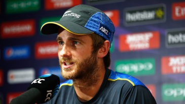 Kane Williamson addresses the media on the eve of their opening match of the World T20