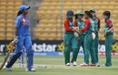 Bangladesh celebrate the wicket of Vellaswamy Vanitha, India v Bangladesh, Women's World T20, Group B, Bangalore, March 15, 2016
