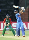 Harmanpreet Kaur hits one down the ground, India v Bangladesh, Women's World T20, Group B, Bangalore, March 15, 2016