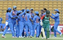 India get together to celebrate the wicket of Sanjida Islam, India v Bangladesh, Women's World T20, Group B, Bangalore, March 15, 2016
