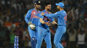 Suresh Raina bowled a brilliant spell of 4-0-15-1