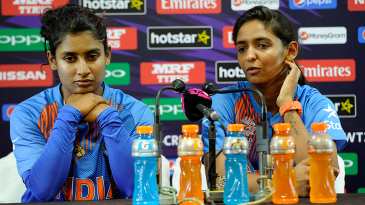Mithali Raj and Harmanpreet Kaur speak to the media after India Women's win