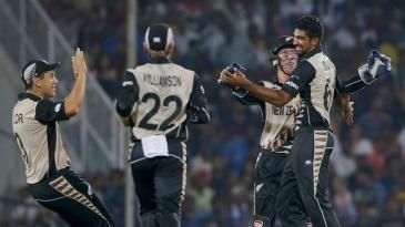 Ish Sodhi got the big wicket of Virat Kohli