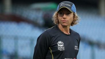 New Zealand Women's coach Haidee Tiffen looks on