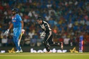 Luke Ronchi celebrates after stumping R Ashwin, India v New Zealand, World T20 2016, Group 2, Nagpur, March 15, 2016