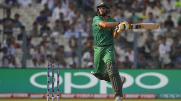 Shahid Afridi comes up with a cross-batted swat