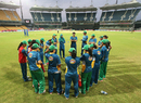 The Pakistan Women's team gather in a huddle before the start of their match, Pakistan v West Indies, Women's World T20 2016, Chennai, March 16, 2016