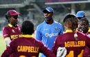 West Indies Women's coach Vasbert Drakes speaks to the players, Pakistan v West Indies, Women's World T20 2016, Chennai, March 16, 2016