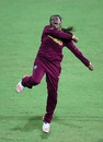 Anisa Mohammed is ecstatic after picking up a wicket, Pakistan v West Indies, Women's World T20 2016, Chennai, March 16, 2016
