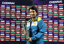 Anam Amin poses with her Player-of-the-Match award, Pakistan v West Indies, Women's World T20 2016, Chennai, March 16, 2016