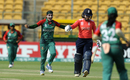 Jahanara Alam rejoices after dismissing Tammy Beaumont, Bangladesh v England, Women's World T20 2016, Group B, Bangalore, March 17, 2016