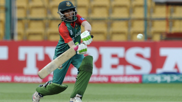 Salma Khatun prepares to hit through the leg side