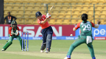 Charlotte Edwards drives down the ground