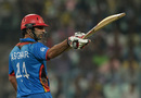 Asghar Stanikzai celebrates his fifty, Afghanistan v Sri Lanka, World T20 2016, Group 1, Kolkata