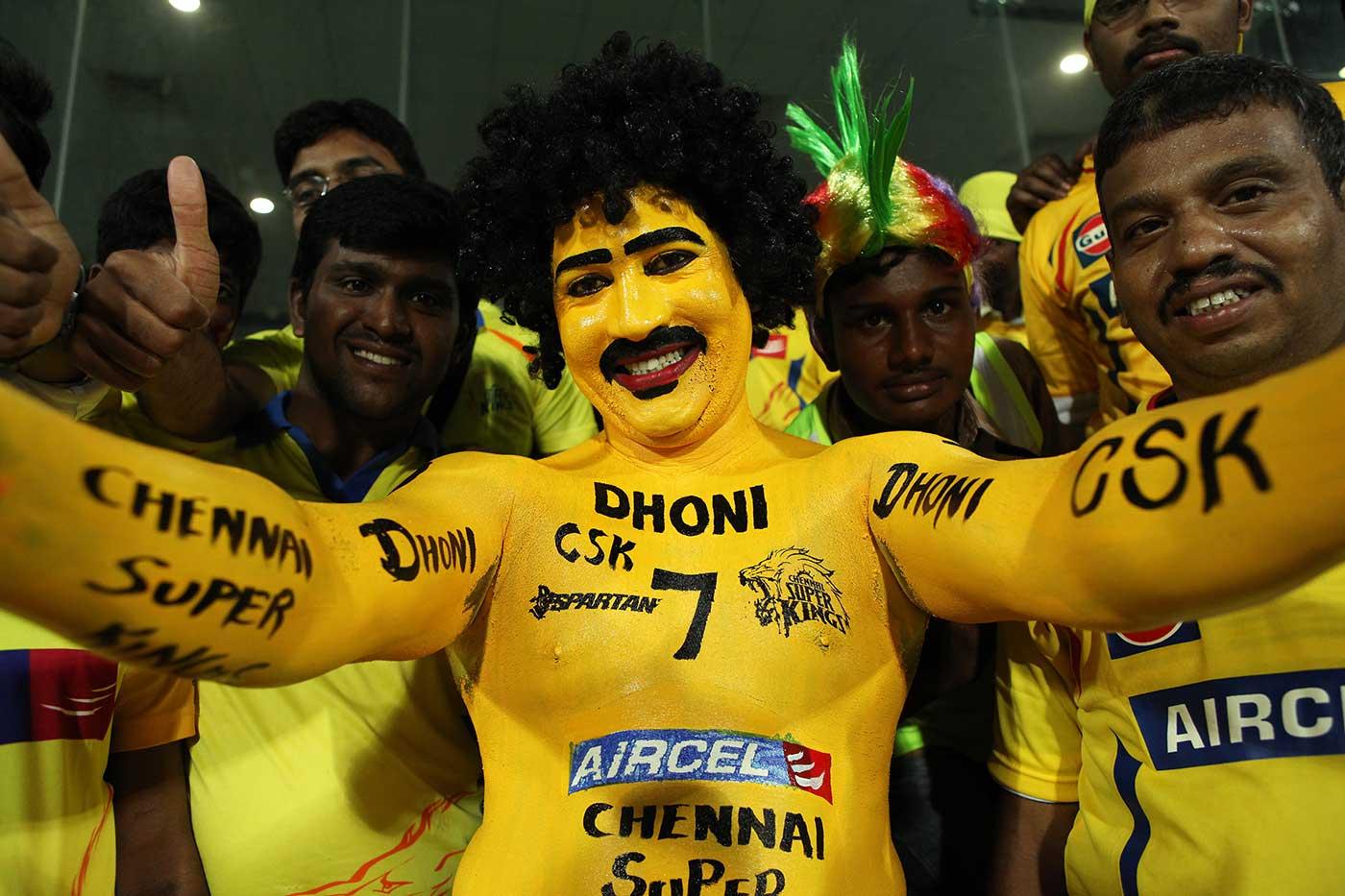 CSK supporter extraordinaire Saravanan: lives in a yellow submarine