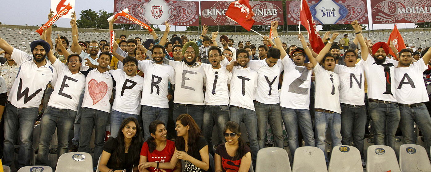 Kings XI Punjab fans show just which of their team owners is their favourite