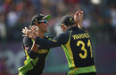 Ashton Agar is congratulated after taking a catch, Australia v New Zealand, World T20 2016, Group 2, Dharamsala, March 18, 2016