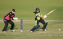 Isobel Joyce plays a cut in her knock of 28, Ireland v New Zealand, Women's World T20 2016, Group A, Mohali, March 18, 2016