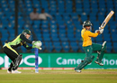 Trisha Chetty punches one off the back foot, Australia v South Africa, Women's World T20, Nagpur, March 18, 2016