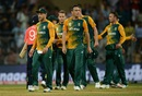 South Africa players walk off after their loss, England v South Africa, World T20 2016, Group 1, Mumbai, March 18, 2016
