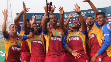 Selfie time: West Indies players get together for a group photo