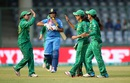Sana Mir celebrates with her team-mates after dismissing Veda Krishnamurthy, India v Pakistan, Women's World T20, Group B, Delhi, March 19, 2016