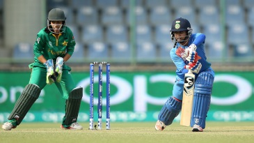 Mithali Raj plays through the off side