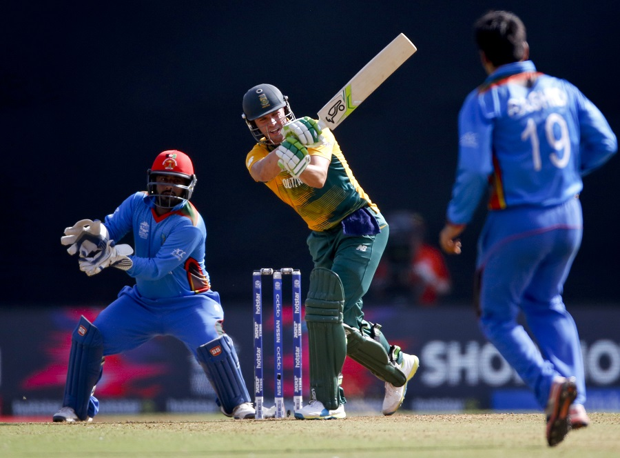 De Villiers's onslaught, which included 29 runs off a Rashid Khan over, saw him score 64 off 29 balls, and powered South Africa to 209 for 5
