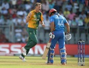 Chris Morris is fired up after dismissing Asghar Stanikzai, Afghanistan v South Africa, World T20 2016, Group 1, Mumbai, March 20,2016