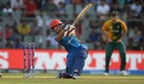 Gulbadin Naib smashes one through the off side, Afghanistan v South Africa, World T20 2016, Group 1, Mumbai, March 20,2016
