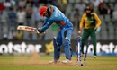 Shapoor Zadran is bowled by Kagiso Rabada, Afghanistan v South Africa, World T20 2016, Group 1, Mumbai, March 20,2016